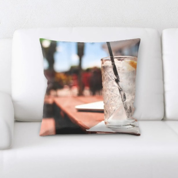 Makena Alcoholic Beverage (8) Throw Pillow