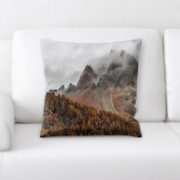 Boyles Mountain and Cliffs (199) Throw Pillow