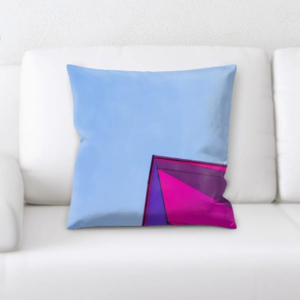 Bierce Abstract Art Throw Pillow