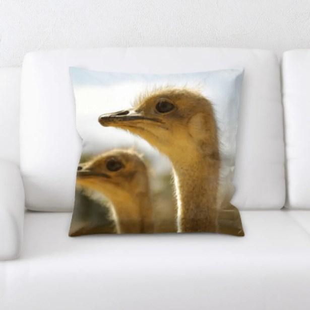 Ventura Ostrich 2 Throw Pillow