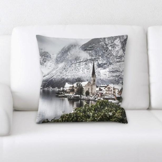 Bravo Mountain and Cliffs (203) Throw Pillow