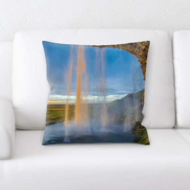Waterfall (180) Throw Pillow