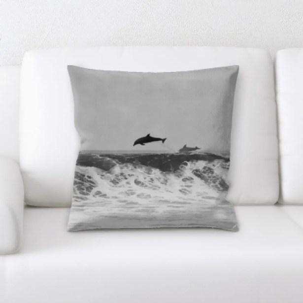 Hurd The Great Sea (125) Throw Pillow