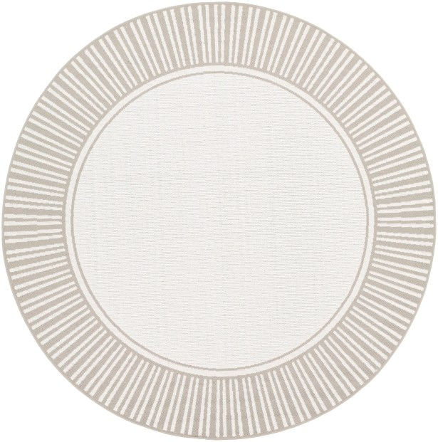 Oliver Taupe Indoor/Outdoor Area Rug Rug Size: Round 8'9
