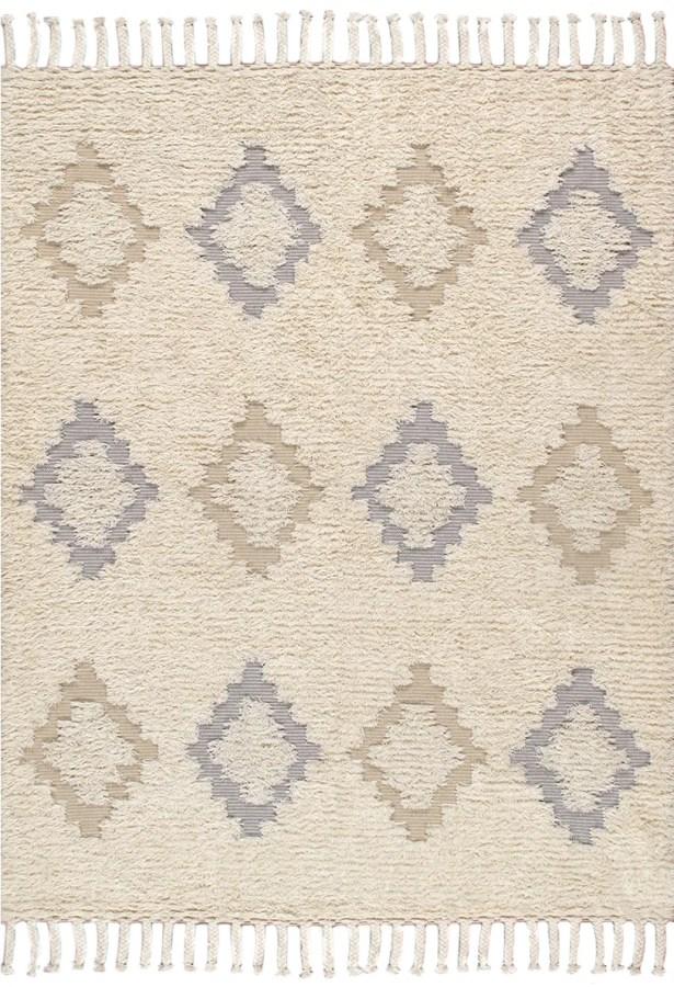 Santa Fe Hand-Woven Ivory Indoor Area Rug Rug Size: Rectangle 8' x 10'