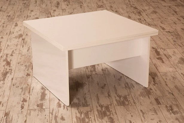 Ivey Lift Top Coffee Table Color: White