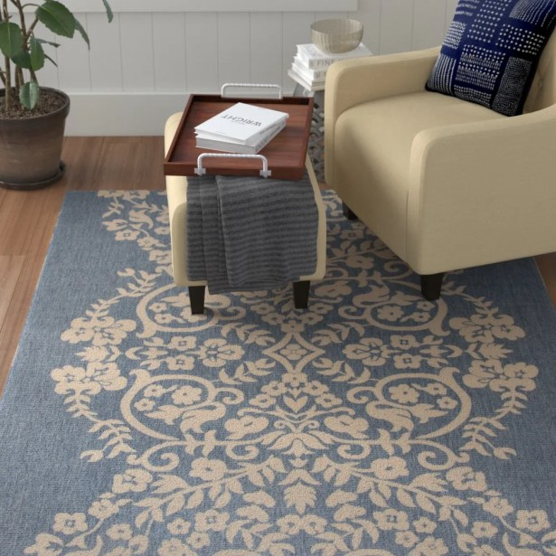 Joliet Tapestry Azurite Area Rug Rug Size: Rectangle 8' x 11'2