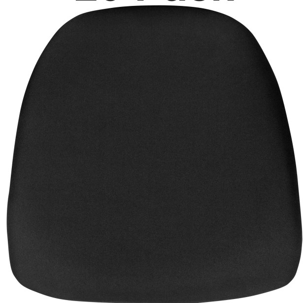 Indoor Dining Chair Cushion Fabric: Black