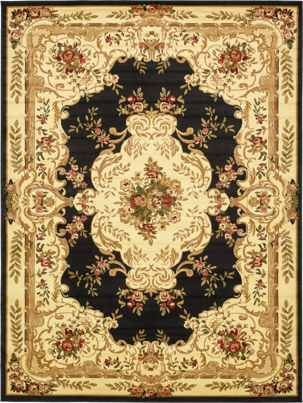 Oskar Black Area Rug Rug Size: Rectangle 9' x 12'