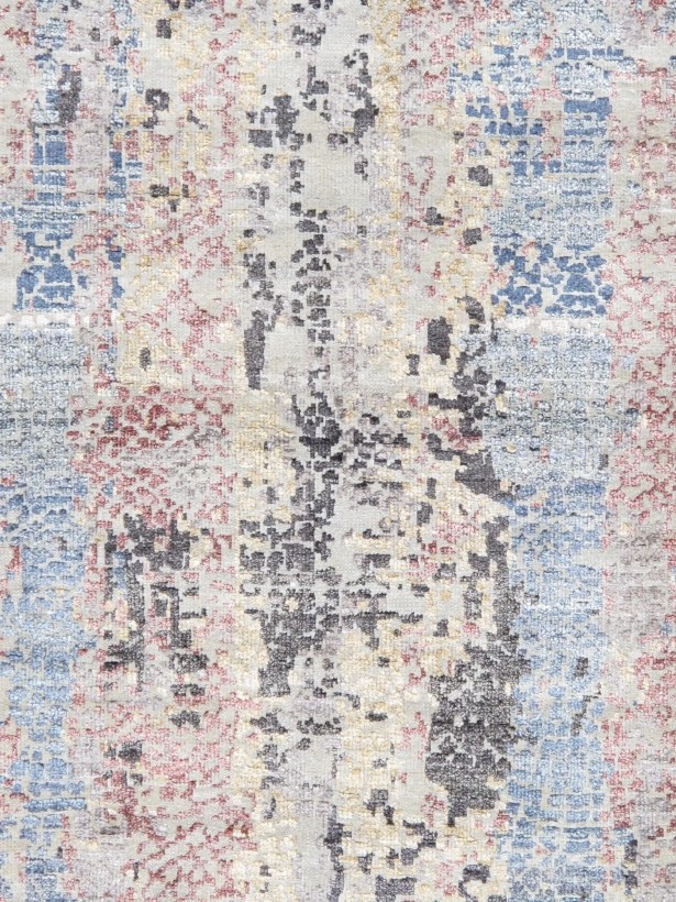 Gemstone Hand-Knotted Wool and Silk Ivory Area Rug Rug Size: Rectangle 9'2