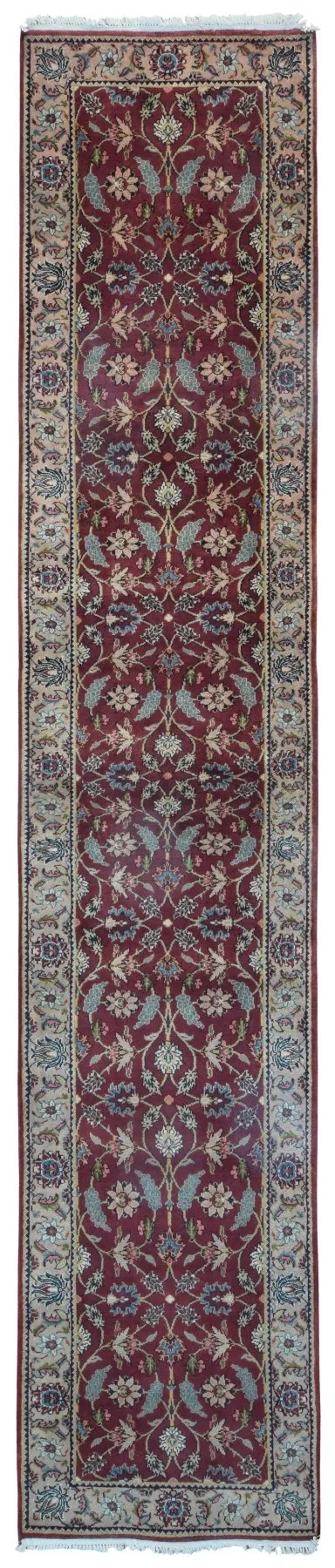 One-of-a-Kind Joanna Oriental Hand-Knotted Wool Red Area Rug