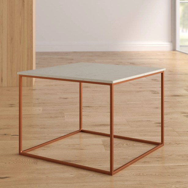 Florian Marble and Metal Coffee Table