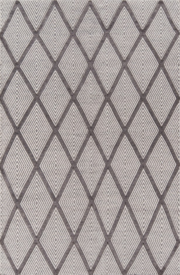 Langdon Spring Hand-Woven Wool Charcoal Area Rug Rug Size: Rectangle 5' x 8'