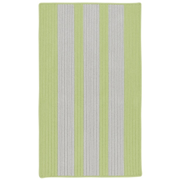 Wes Vertical Stripe Horizon Hand-Braided Gray/Green Indoor/Outdoor Area Rug Rug Size: Rectangle 5' x 7'