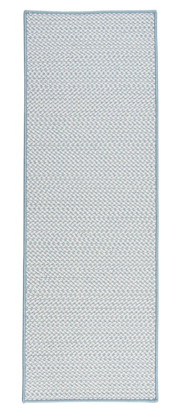 Duane Hand-Braided Blue Indoor/Outdoor Area Rug Rug Size: Runner 2'6