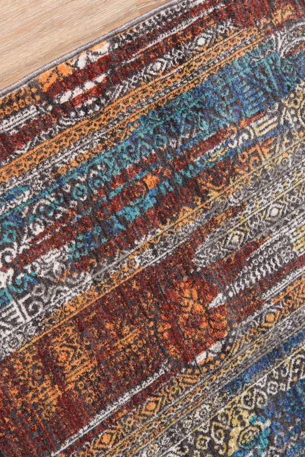 Lawler Brown/Blue Area Rug Rug Size: Rectangle5' x 8'