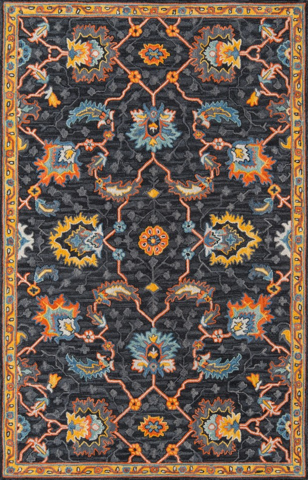 Lancaster Hand-Tufted Wool Charcoal Area Rug Rug Size: Rectangle 6' x 9'