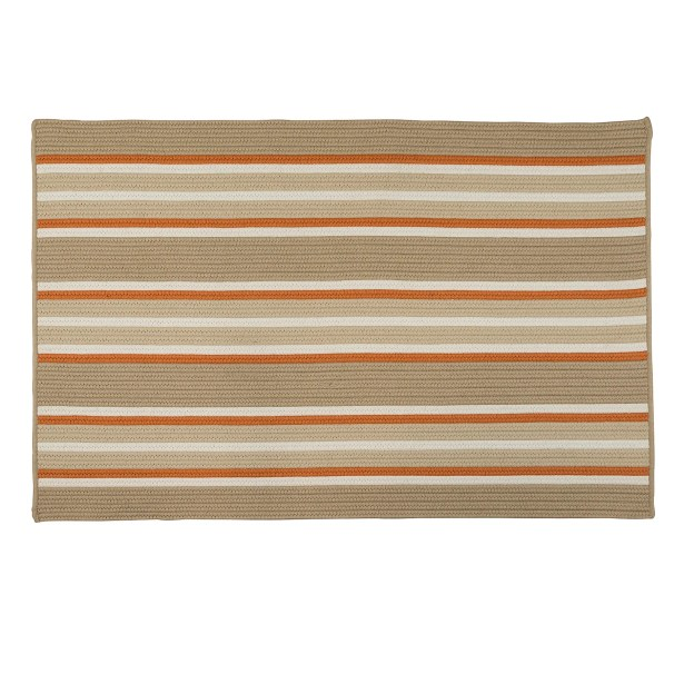 Madalynn Stripe Rusted Hand-Braided Sand Indoor/Outdoor Area Rug Rug Size: Rectangle 5' x 8'