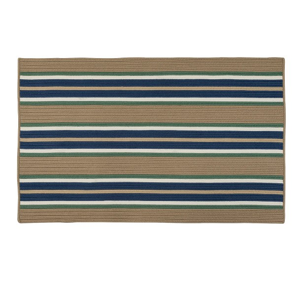 Madalynn Stripe Isle Hand-Braided Taupe Indoor/Outdoor Area Rug Rug Size: Rectangle 5' x 7'