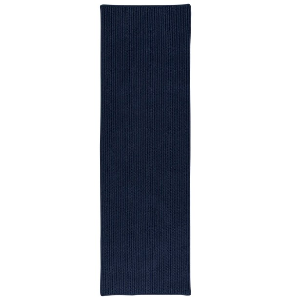 Marie All-Purpose Mudroom Hand-Braided Navy Area Rug Rug Size: Runner 2'5