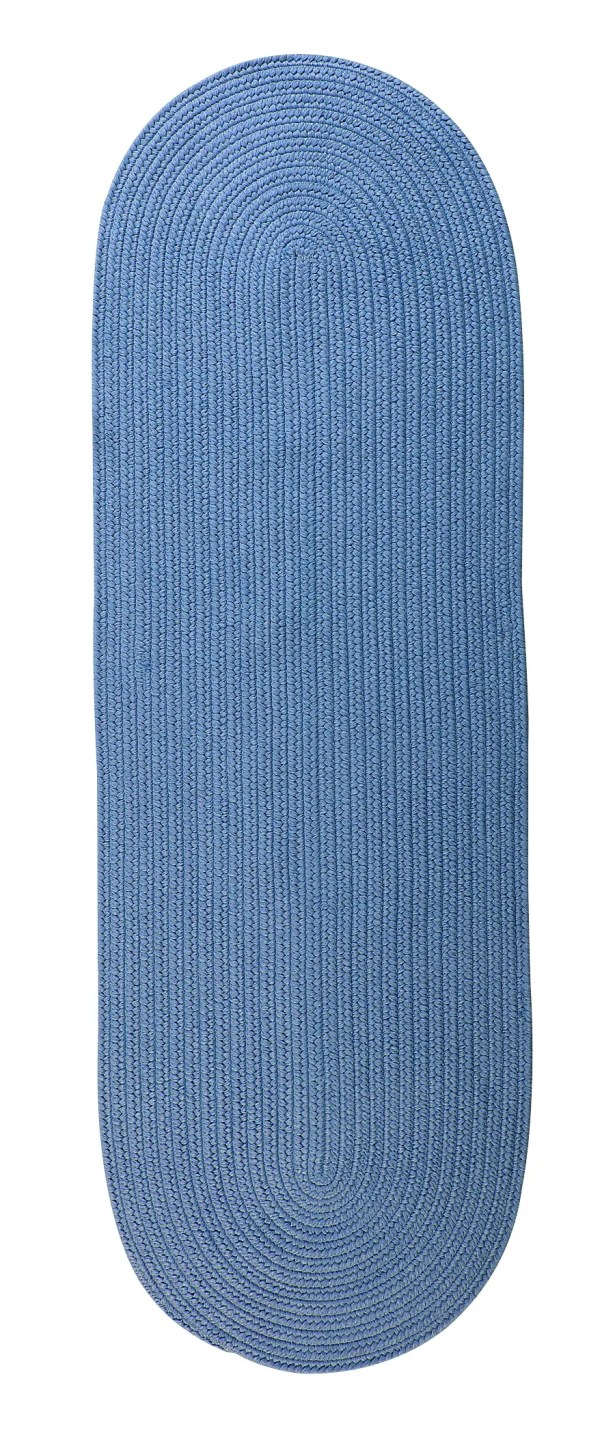 Wickersham Reversible Hand-Braided Blue Indoor/Outdoor Area Rug Rug Size: Runner 2'4