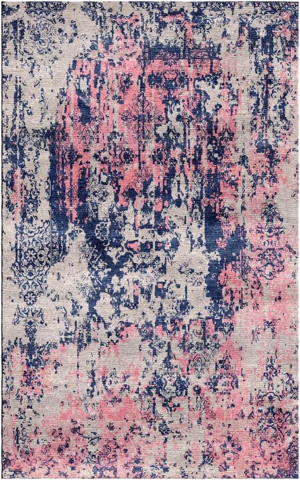 Aliza Handloom Gray/Pink Area Rug Rug Size: Square 9'