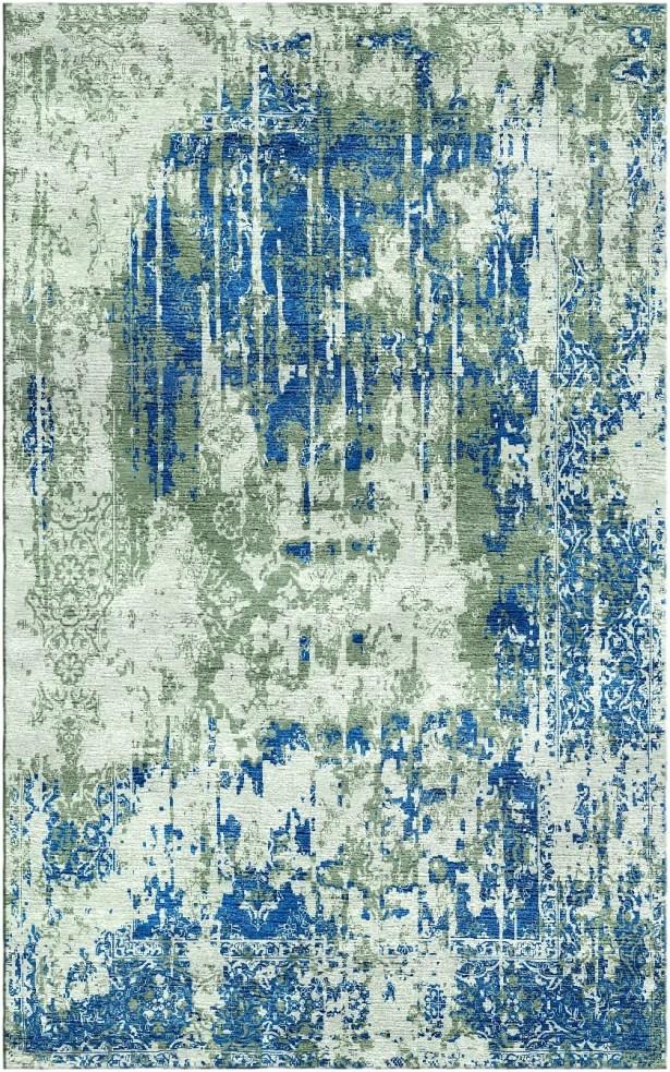Aliza Handloom Sage/Blue Area Rug Rug Size: Rectangle 6' x 9'