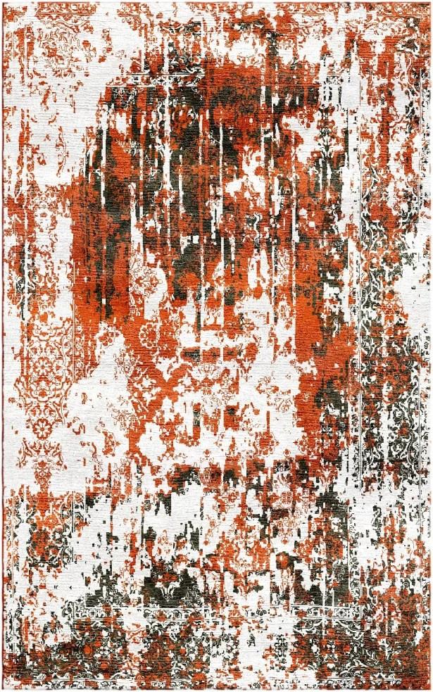 Aliza Handloom Orange Area Rug Rug Size: Rectangle 4' x 6'