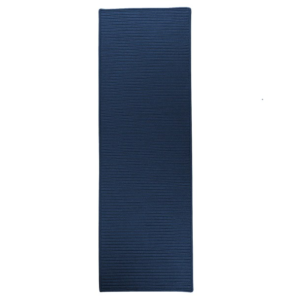 Ashleigh Reversible Hand-Braided Blue Indoor/Outdoor Area Rug Rug Size: Runner 2'4