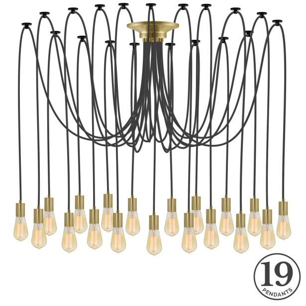 Ian 19-Light Cluster Pendant
