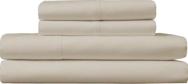 Borgholm 124 Thread Count Sheet Set Color: Beige, Size: Queen