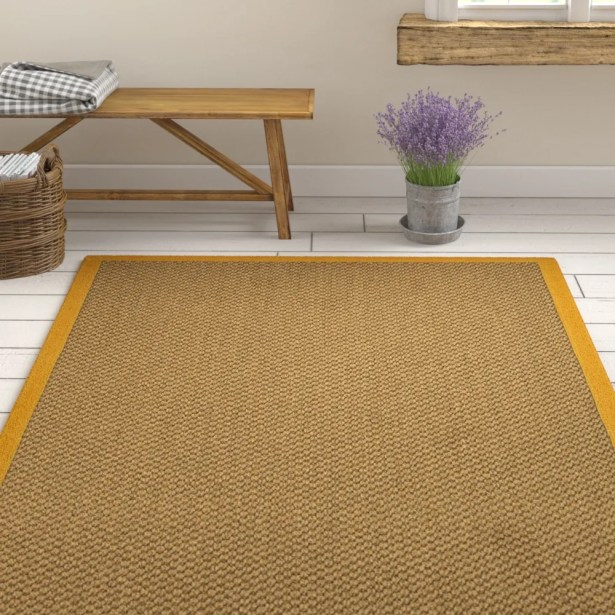 Loehr Handwoven Flatweave Brown Area Rug Rug Size: Rectangle 5' X 8'