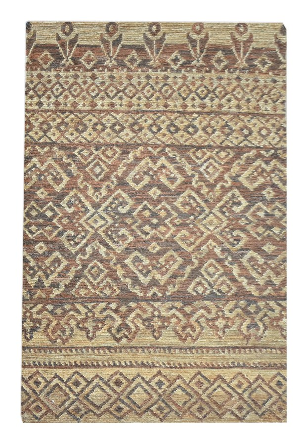 Kaneville Hand-Knotted Brown/Beige Area Rug Rug Size: Rectangle 8' x 10'