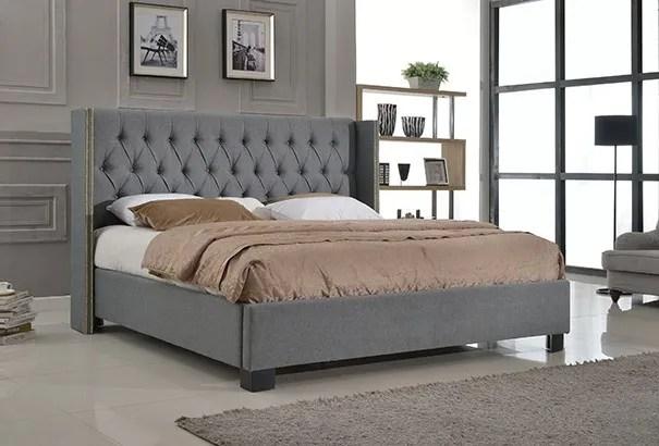 Mcguire Button Tufted Footboard Upholstered Platform Bed Size: King
