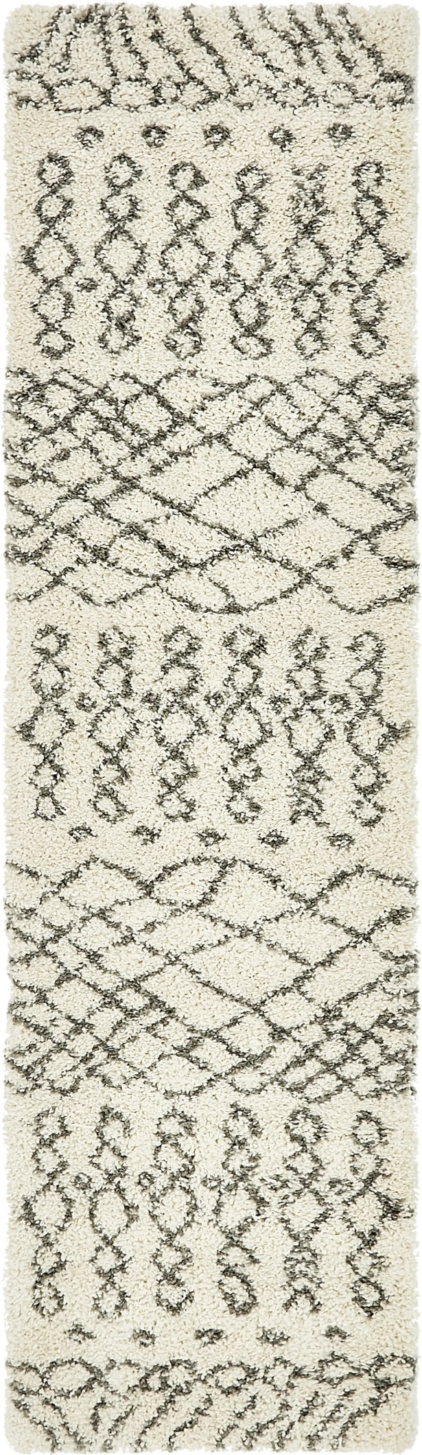 Bourne Machine woven  Ivory Area Rug Rug Size: Runner 2'7