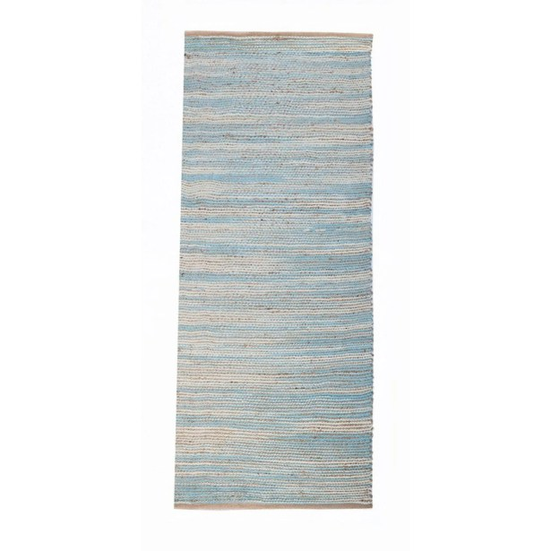Noam Aqua Blue Area Rug Rug Size: Runner 1'10