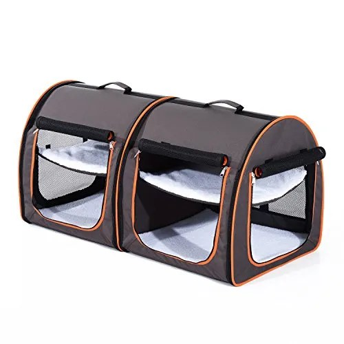 Friedell Soft-Sided Portable Dual Compartment Pet Carrier