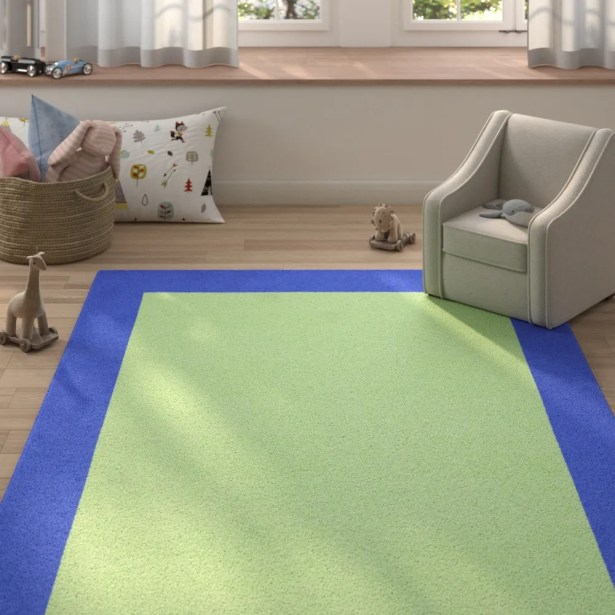 Godsey Hand-Tufted Wool Light Green Area Rug Rug Size: Rectangle 9' x 12'