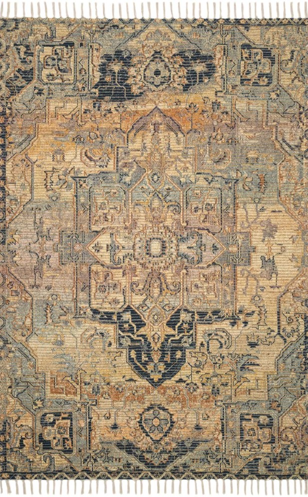 Cornelia Hand-Knotted Gold/Fiesta Area Rug Rug Size: Rectangle 5' x 7'6