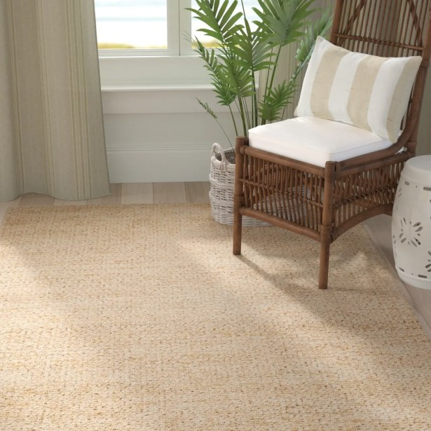Blythen Hand-Woven Butter Area Rug Rug Size: Rectangle 8' x 10'