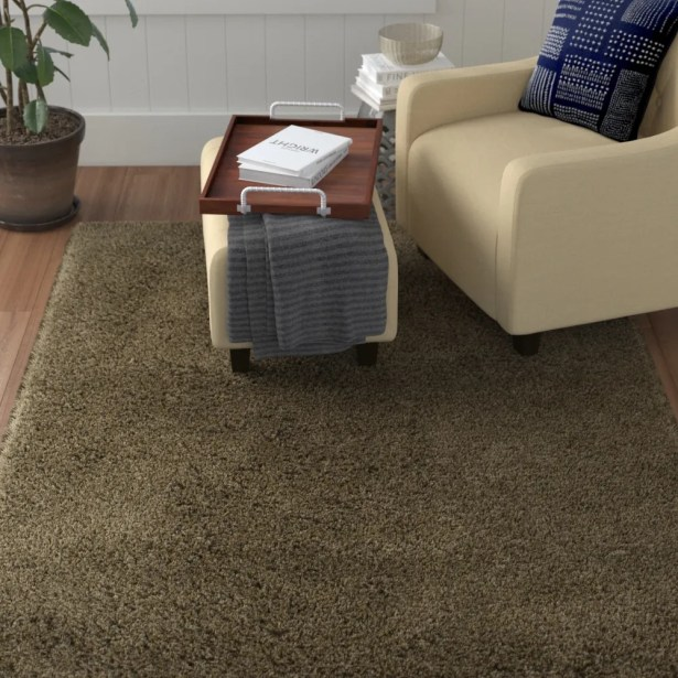 Auguste Stone/Latte Area Rug Rug Size: Rectangle 7' x 10'