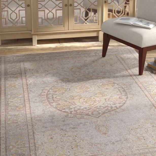 Kahina Vintage Gray Area Rug Rug Size: Rectangle 3' x 7'10