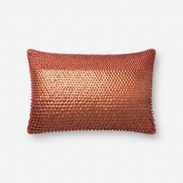 Liv Pillow Fill Material: Down/Feather, Color: Rust/Gold