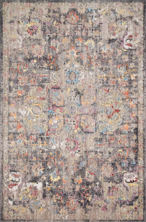 Warden Charcoal/Brown Area Rug Rug Size: Rectangle 7'10