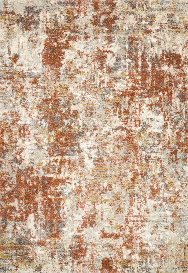 Gilchrist Orange/Brown Area Rug Rug Size: Rectangle 3'10