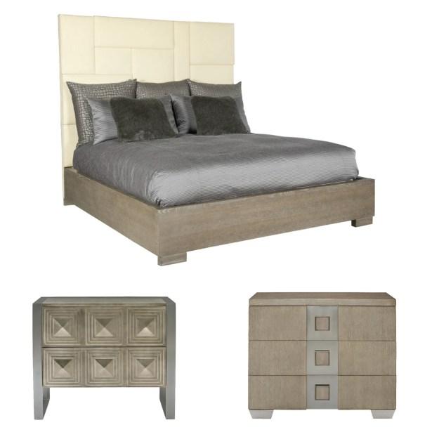 Mosaic Upholstered Panel Configurable Bedroom Set