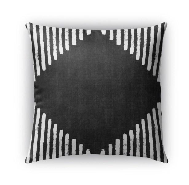 Hadley Diamond Block Throw Pillow Size: 26