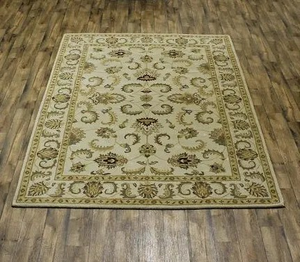 Bovill Agra Indian Oriental Hand-Tufted Wool Beige Area Rug