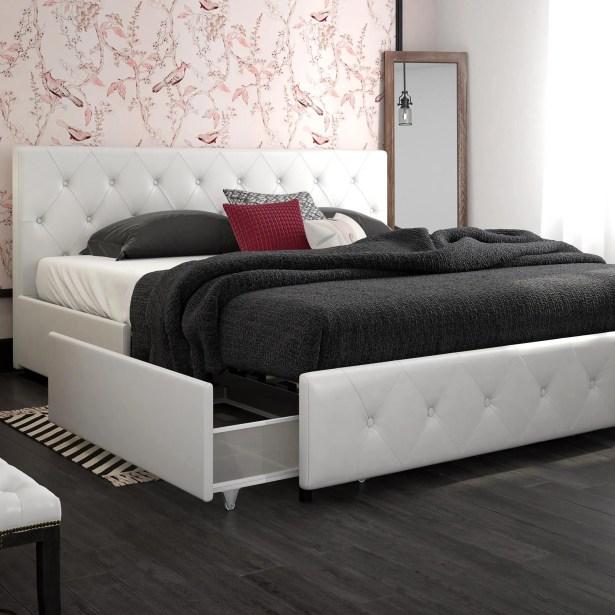 Dakota Upholstered Storage Platform Bed Size: King, Color: Black