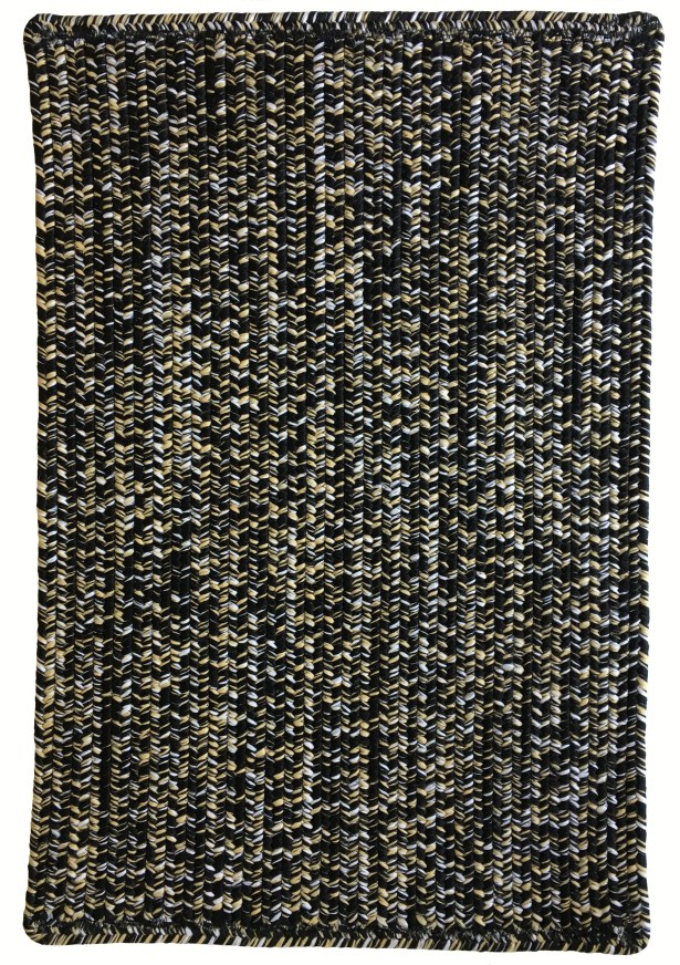 One-of-a-Kind Aukerman Hand-Braided Black Indoor/Outdoor Area Rug Rug Size: Rectangle 4' x 6'